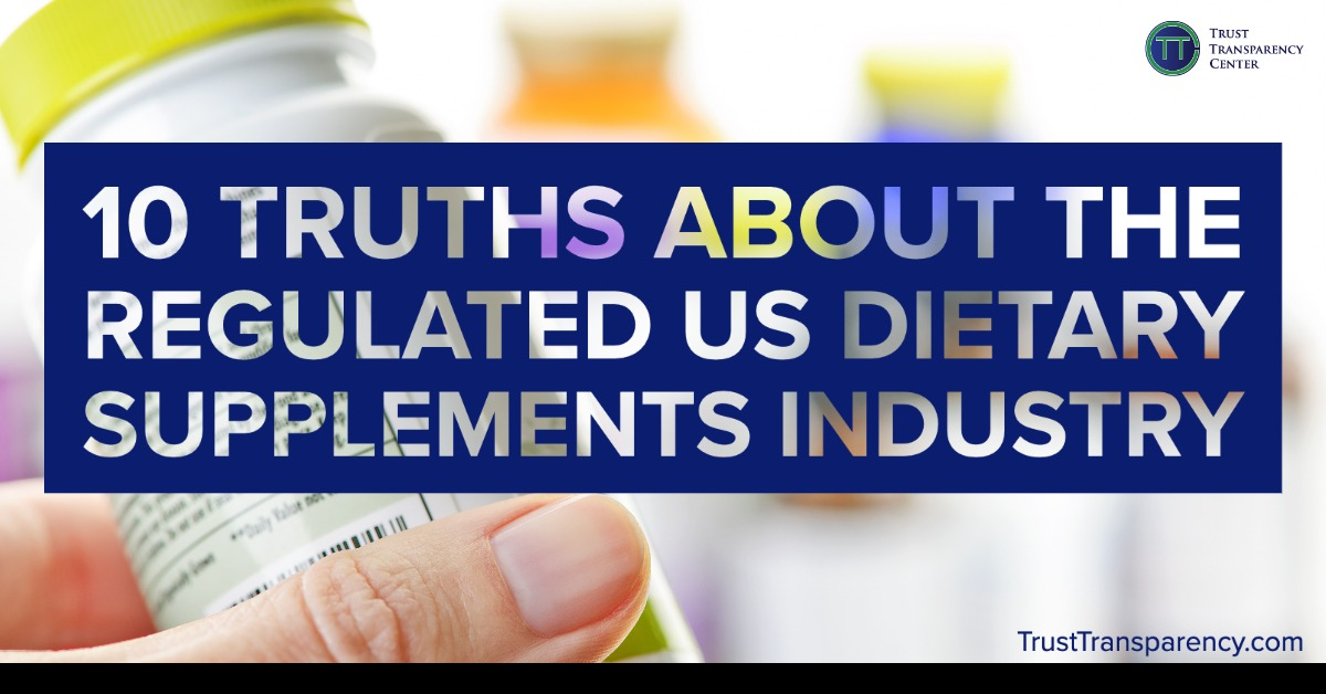 Myth Busting: 10 Truths About the REGULATED US Dietary Supplements Industry