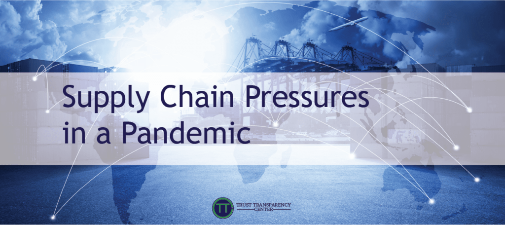 Supply Chain Pressures in a Pandemic