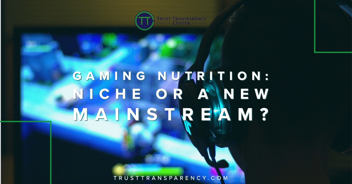 Gaming nutrition: Niche or a new mainstream?